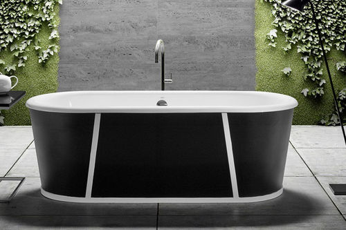 Freestanding bathtub / cast iron PURE ON BASE BLEU PROVENCE