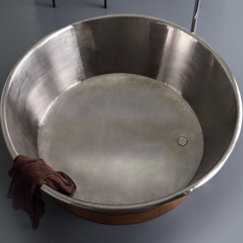 Freestanding bathtub / round / copper BLEU PROVENCE