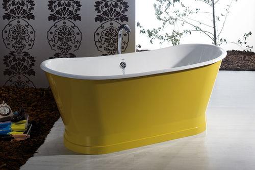 Free-standing bathtub / oval / cast iron ANTICA BLEU PROVENCE
