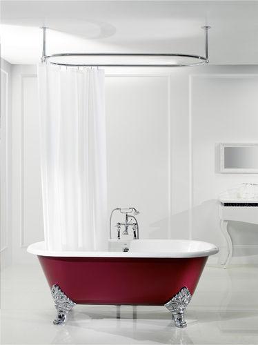 Bathtub with legs / oval / cast iron JASMIN  BLEU PROVENCE