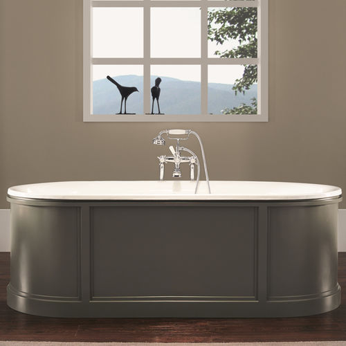 Free-standing bathtub / oval / cast iron 1200 BLEU PROVENCE