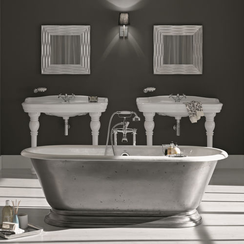 Free-standing bathtub / oval / cast iron 1100 BLEU PROVENCE
