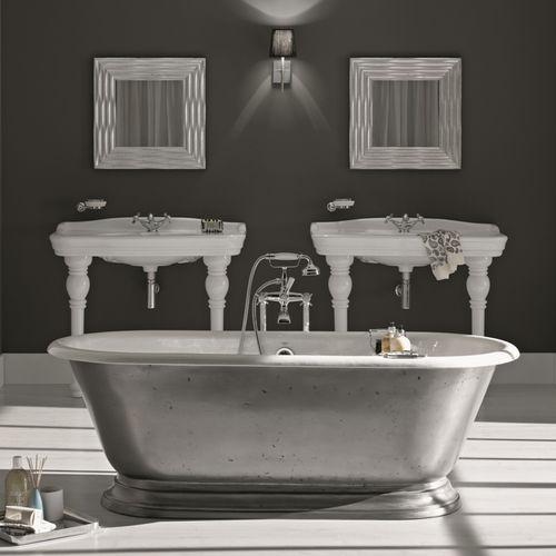 Free-standing bathtub / oval / cast iron SHABBY BLEU PROVENCE