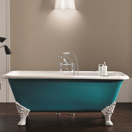 Bathtub with legs / cast iron 1300 BLEU PROVENCE