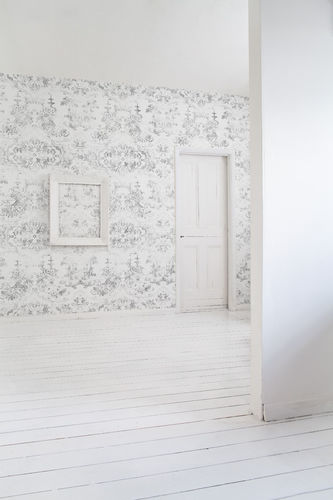 Baroque style wallpaper / vintage / fabric / vinyl