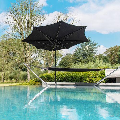 commercial patio umbrella / fabric / aluminum / swiveling
