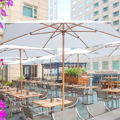 Commercial patio umbrella / fabric / metal / wind-resistant VINEYARD : CLASSIC TUUCI