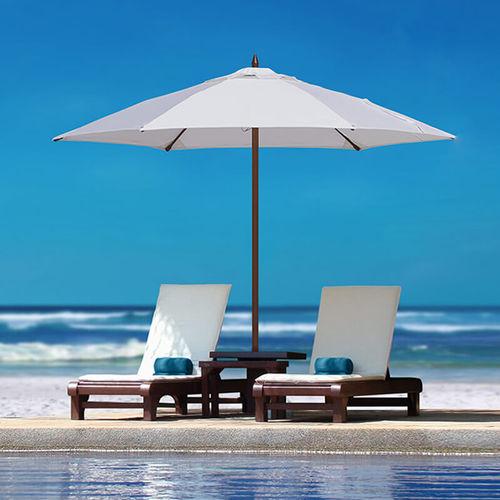 commercial patio umbrella / fabric / metal / fiberglass
