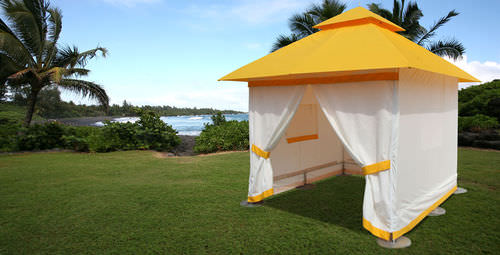 Aluminum gazebo / fabric roof / commercial GRAND PACIFIC TUUCI