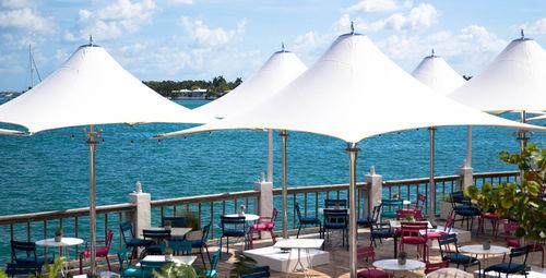 Commercial patio umbrella / fabric / stainless steel / aluminum OCEAN MASTER MAX : F-1 TUUCI