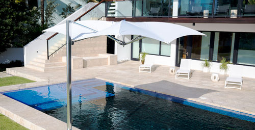 Offset patio umbrella / commercial / fabric / aluminum OCEAN MASTER MAX : MANTA CANTILEVER  TUUCI