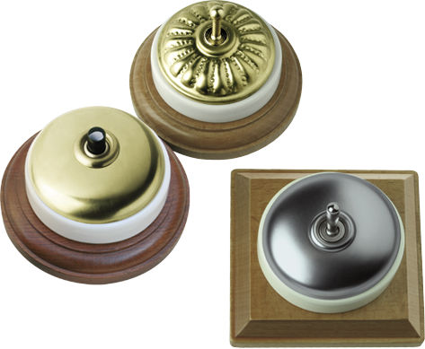 light switch / push-button / toggle / metal