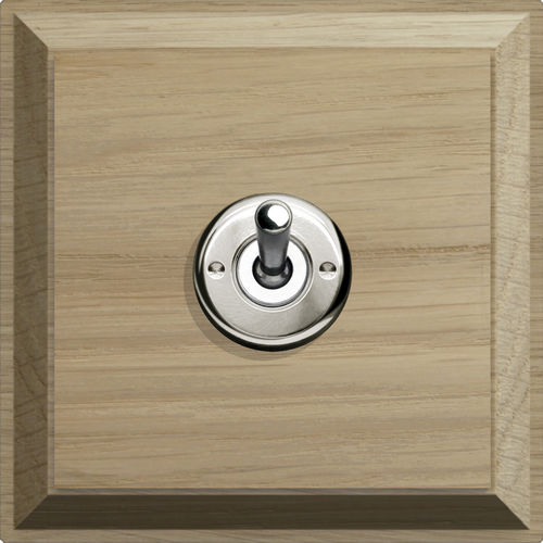 light switch / toggle / double / wooden
