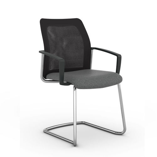 Contemporary visitor chair / with armrests / upholstered / cantilever F2 Viasit GmbH