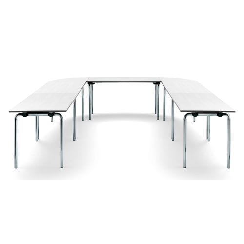 Contemporary conference table / chromed metal / steel / rectangular CONBRIO Viasit GmbH