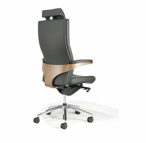 Contemporary executive chair / walnut / fabric / leather TORO Viasit GmbH