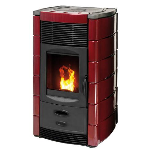 Pellet boiler stove / contemporary / cast iron / 1-sided DAFNE  PLUS Calux Srl