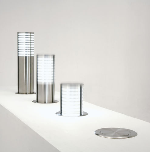floor lamp / contemporary / stainless steel / LED