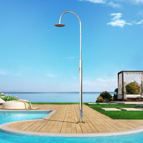 Pool outdoor shower / stainless steel ARIA CYLINDER M BEAUTY Inoxstyle