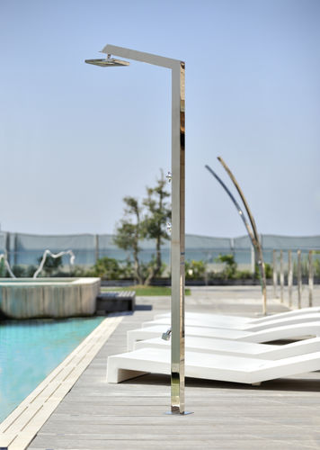 Stainless steel outdoor shower TECNO CUBE A Inoxstyle