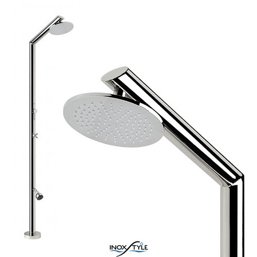 Stainless steel outdoor shower TECNO SL Inoxstyle