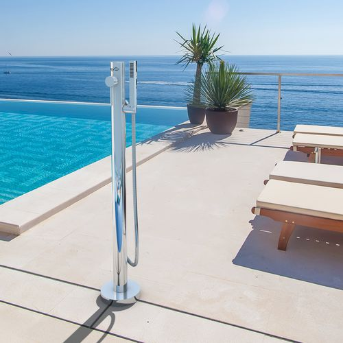 stainless steel outdoor shower