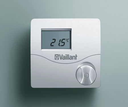 room thermostat / wall-mounted / for heating / with digital display