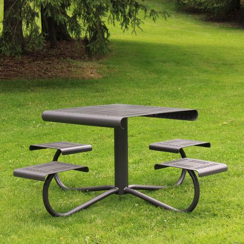 contemporary picnic table / steel / composite / ipe