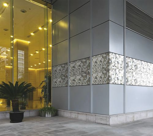 Cover composite panel / porcelain stoneware / for partition walls / wall GAMMASTONE MOSAIC AIR GAMMASTONE