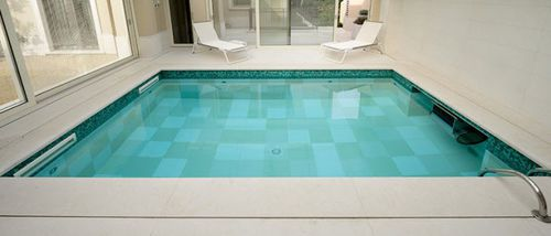 poolside tile / floor / natural stone / striped