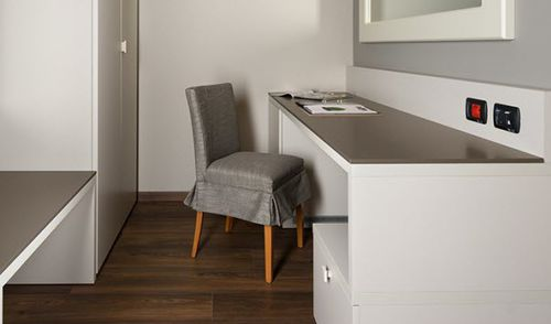 wooden desk / stone / contemporary / for hotels