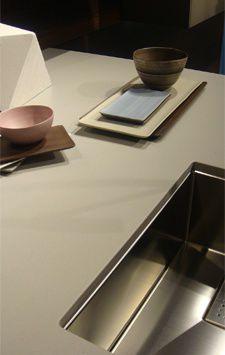 ceramic countertop / kitchen / gray