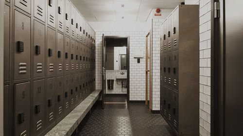 metal locker / combination / for public buildings / for sports facilities