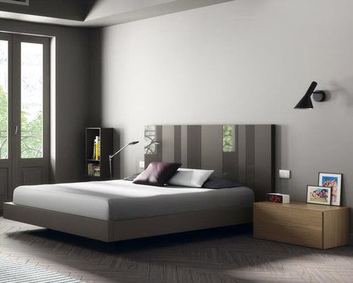 Double bed / floating / contemporary / wooden D4  VIVE - MUEBLES VERGE S.L.