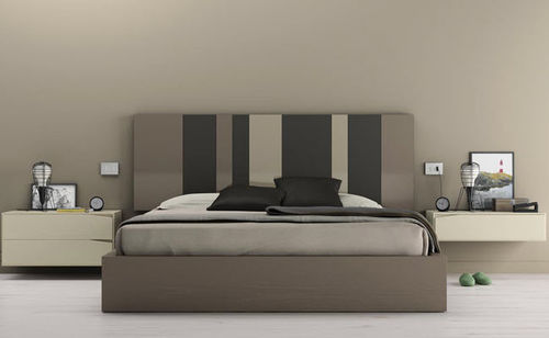 Double bed / contemporary / with headboard / integrated bedside table D7  VIVE - MUEBLES VERGE S.L.