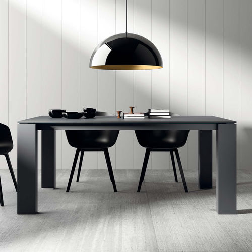 Contemporary dining table / wooden / ceramic / lacquered glass T01 VIVE - MUEBLES VERGE S.L.