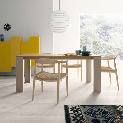 Dining table / contemporary / wooden / ceramic T04  VIVE - MUEBLES VERGE S.L.