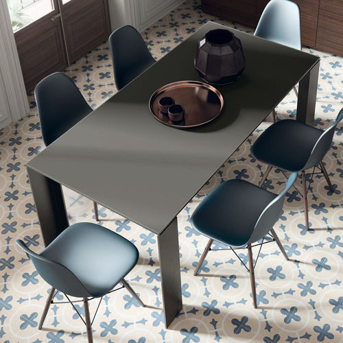 Contemporary dining table / wooden / ceramic / lacquered glass T10 VIVE - MUEBLES VERGE S.L.