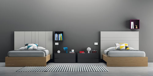 Double bed / contemporary / with headboard / integrated bedside table D9 VIVE - MUEBLES VERGE S.L.