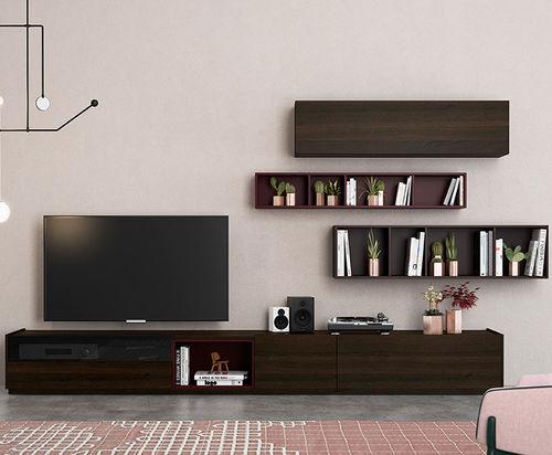 Contemporary TV wall unit / oak FRENTES : TV03 VIVE - MUEBLES VERGE S.L.
