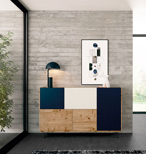Contemporary sideboard / lacquered wood / oak FRENTES : R05 VIVE - MUEBLES VERGE S.L.