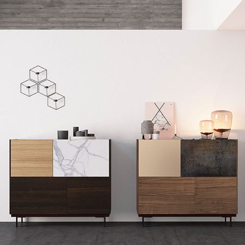 Contemporary sideboard / lacquered wood / oak FRENTES : A05 VIVE - MUEBLES VERGE S.L.