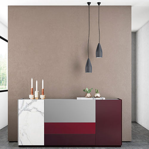 Contemporary sideboard / lacquered glass FRENTES : A08 VIVE - MUEBLES VERGE S.L.