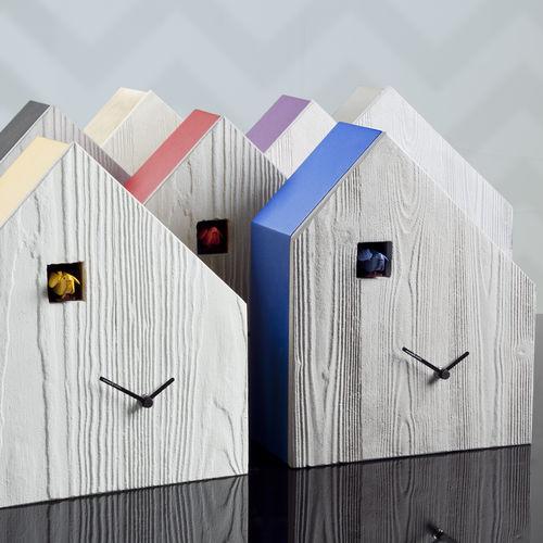 Contemporary clock / analog / wall-mounted / stainless steel CEMENTO by Arianna Subri  DIAMANTINI & DOMENICONI