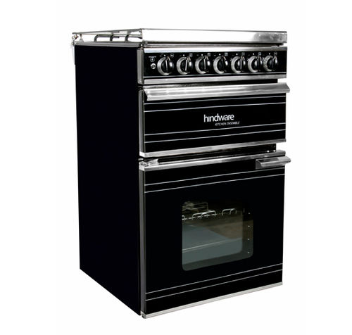 gas range cooker / enameled / with grill