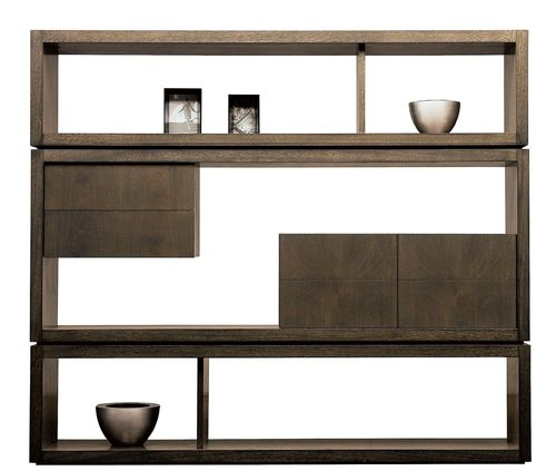 room divider shelf / contemporary / wooden / for offices