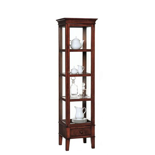Victorian display case / wooden / glass