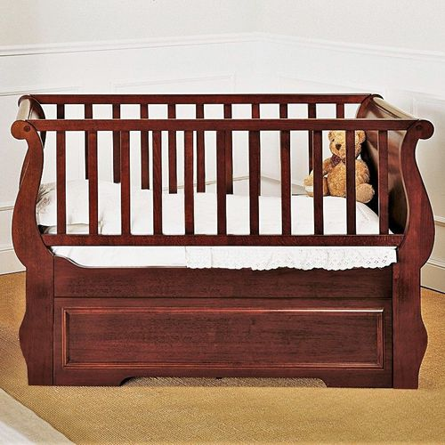 traditional baby bed / beech