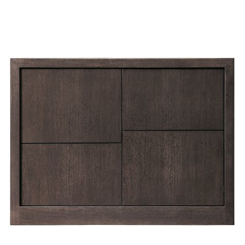 contemporary bedside table / walnut / rectangular / with drawer