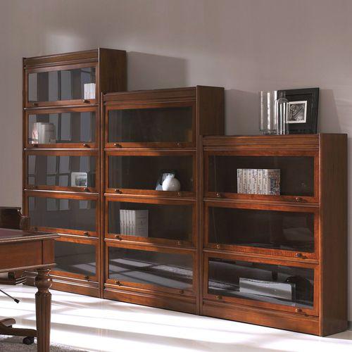 Victorian bookcase / walnut / beech / glass